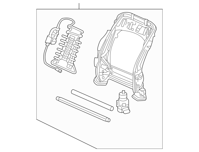 Discount Genuine OEM 2008-2011 Honda CR-V 5-DOOR Frame, L