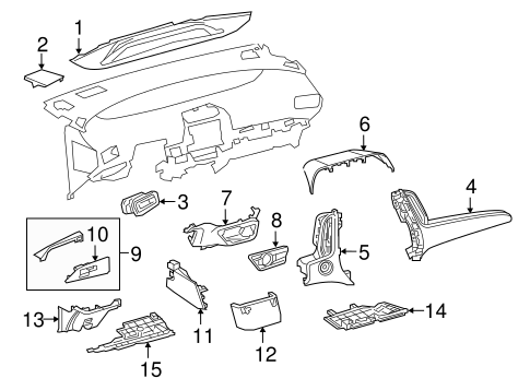 Instrument Panel Components for 2018 Toyota Prius Prime