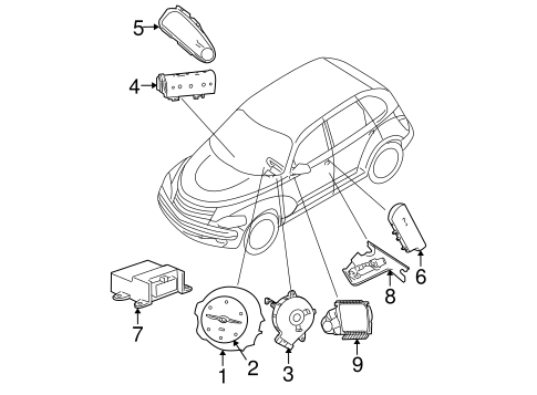 AIR BAG COMPONENTS for 2001 Chrysler PT Cruiser