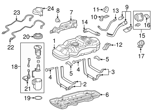 Genuine OEM Fuel System Components Parts for 2016 Toyota