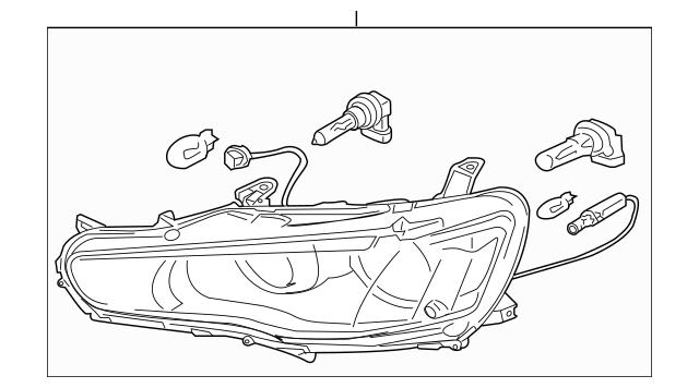 2008-2015 Mitsubishi Lancer Headlamp Assembly 8301C363