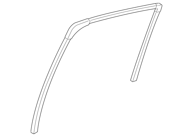 2011-2014 Acura TSX 5-DOOR Channel, L Rear Door Run 72775