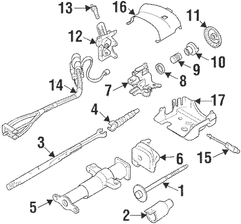 Steering Column Assembly for 1999 Chevrolet Suburban K2500
