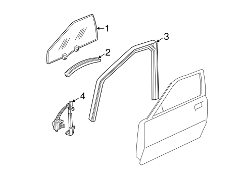 FRONT DOOR Parts for 1998 Buick Regal