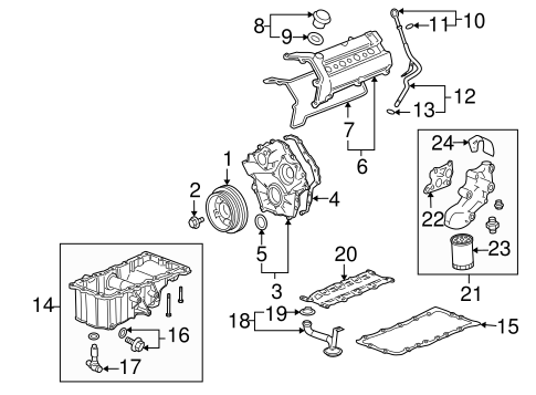 ENGINE PARTS for 2006 Cadillac STS (V)