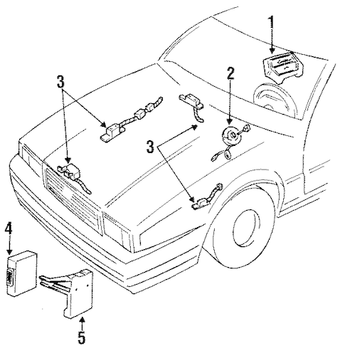 OEM 1993 Cadillac Allante Air Bag Components Parts