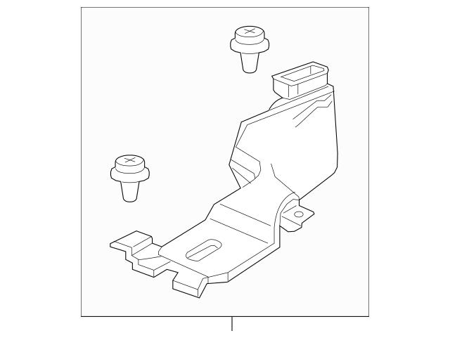 2016-2017 Honda FIT 5-DOOR Duct Assembly, R Rear Heater