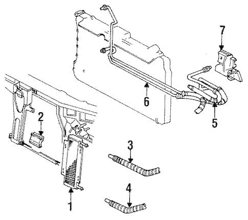 OEM 1992 Cadillac Eldorado Trans Oil Cooler Parts