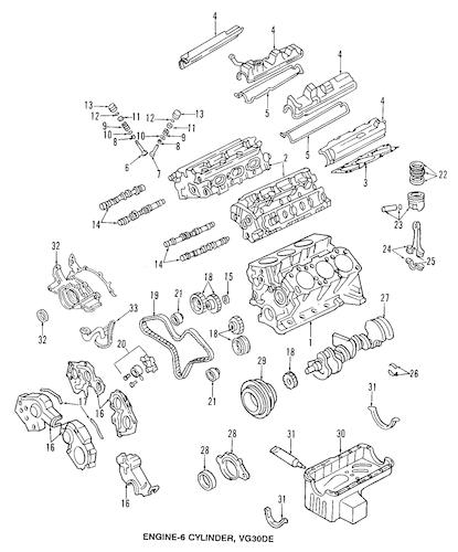 Oil Pan Parts for 1997 Infiniti J30