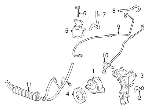 OEM 2014 Chevrolet Express 3500 Pump & Hoses Parts