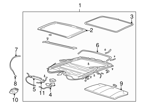 SUNROOF Parts for 2000 Buick Century
