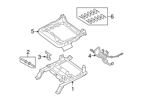 Front Seat Components for 2005 Ford Freestyle