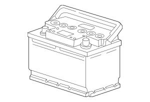 1999-2013 Porsche Battery OEM Part# 999-611-080-21
