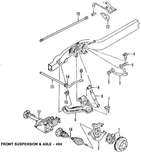 OEM Suspension Components for 2000 Chevrolet Astro