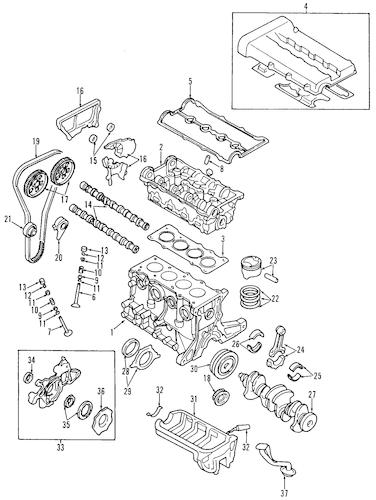 ENGINE for 2001 Kia Rio