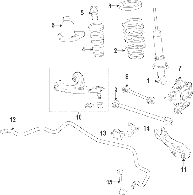 Discount Genuine OEM 2016 Honda PILOT 5-DOOR Arm B, R Rear