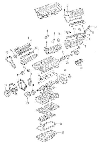 ENGINE for 2004 Pontiac Bonneville (GXP)