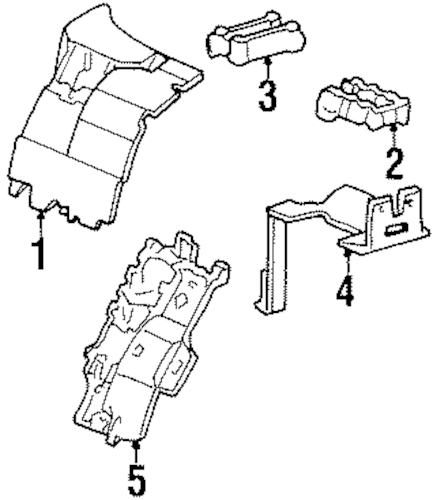 COMPONENTS UNDER HOOD for 1999 Cadillac DeVille