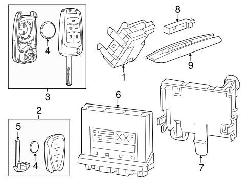 OEM 2017 Chevrolet Cruze Keyless Entry Components Parts