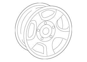 Buy this Genuine 2007-2008 Mitsubishi Raider Wheel, Alloy
