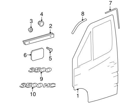 Door & Components for 2004 Dodge Sprinter 3500 Parts