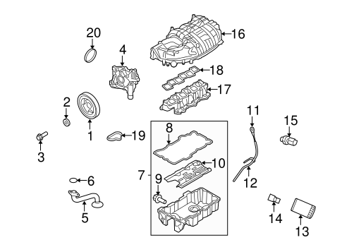 ENGINE PARTS for 2010 Ford Fusion