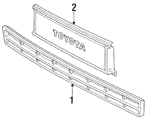 Genuine OEM Grille & Components Parts for 1987 Toyota Van