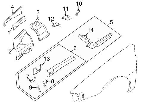 Structural Components & Rails for 1997 Subaru Impreza