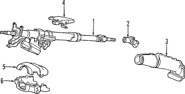 2002-2005 Honda CIVIC HATCHBACK Column Assembly, Steering