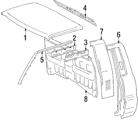 Genuine OEM CAB ASSEMBLY Parts for 1986 Toyota Pickup Base
