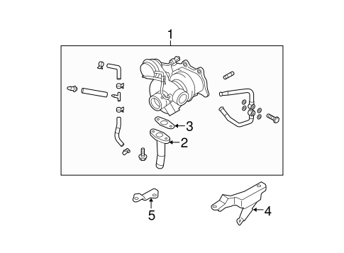 Turbocharger & Components for 2008 Subaru Forester