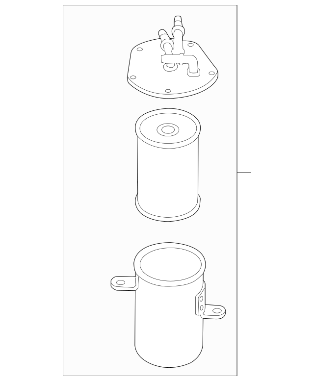 Genuine OEM Fuel Filter Part# 7P6-127-401 Fits 2011-2016