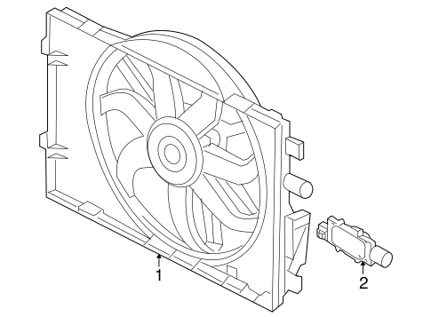 COOLING FAN for 2011 Lincoln MKS