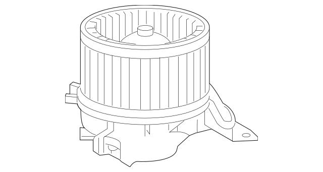 Genuine OEM 2015-2016 Ram ProMaster City Blower Motor
