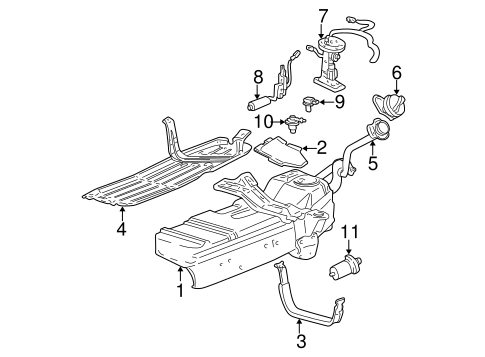 FUEL SYSTEM COMPONENTS for 2001 Ford Explorer Sport Trac