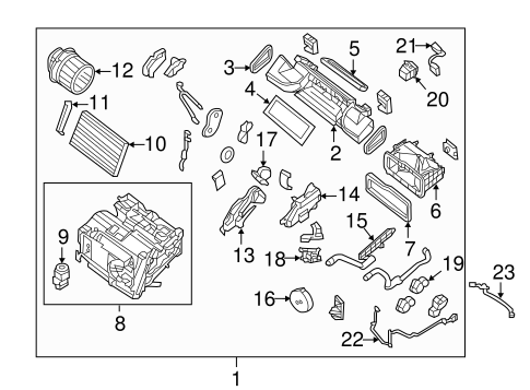 Evaporator & Heater Components for 2015 Nissan Sentra