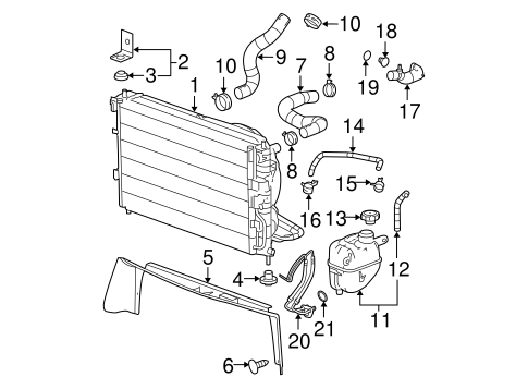 Radiator & Components for 2006 Chevrolet Equinox