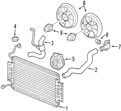 OEM 2000 Oldsmobile Alero Radiator & Components Parts