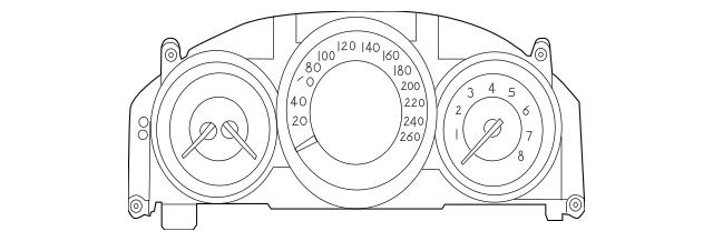2013 Mercedes-Benz CLS 63 AMG® Instrument Cluster 218-900
