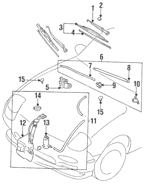 Wiper & Washer Components for 1993 Mazda RX-7