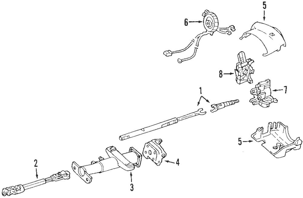 OEM Steering Column Lock Control Module Buick Chevrolet