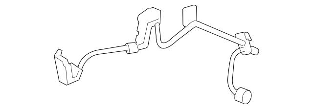 2013 Lexus ABS Wheel Speed Sensor Wiring Harness 89516
