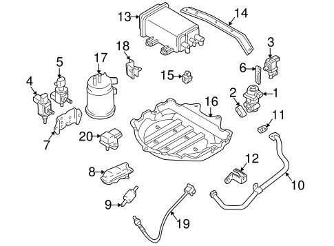 Emission Components for 1999 Mazda Protege