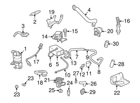 OEM 2001 Chevrolet Impala Fuel System Components Parts