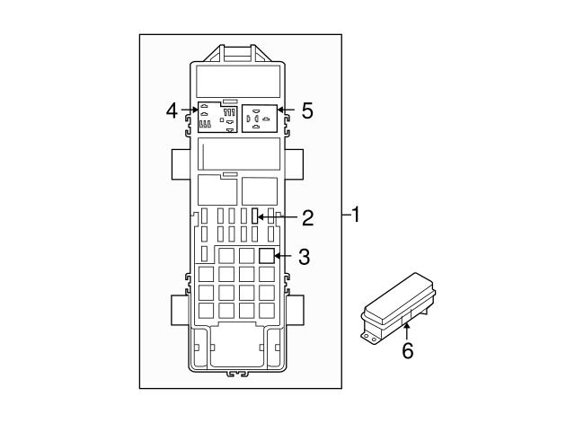 2007 Jeep Wrangler Fuse & Relay Box 56049717AQ
