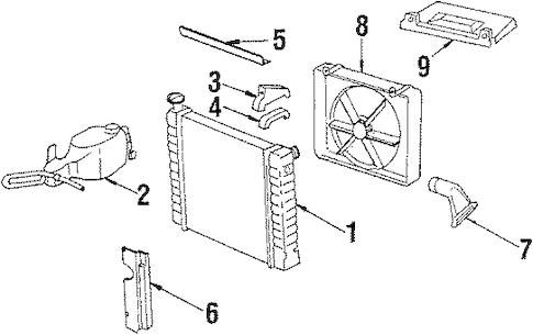 OEM 1984 Chevrolet Cavalier Radiator & Components Parts