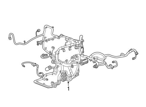 Wiring Harness for 2018 Chevrolet Silverado 2500 HD