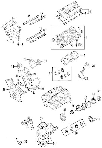 Genuine OEM MOUNTS Parts for 2008 Toyota Sienna LE