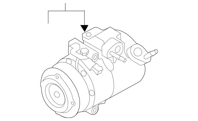 2011-2019 Ford Explorer Compressor Assembly EB5Z-19703-B