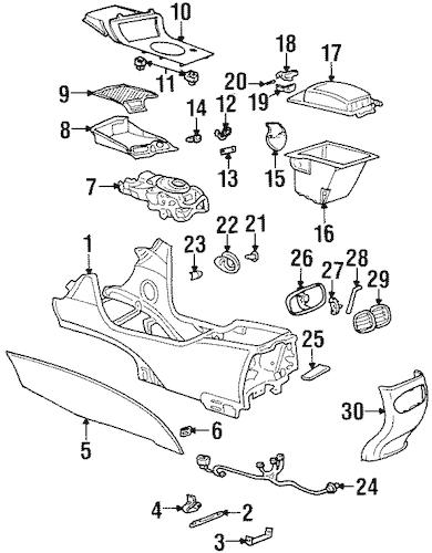 OEM 2003 Oldsmobile Aurora Front Console Parts